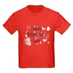 Happy Valentine's Day Retro Kids Dark T-Shirt