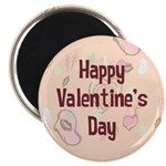 Happy Valentine's Day Retro Magnet