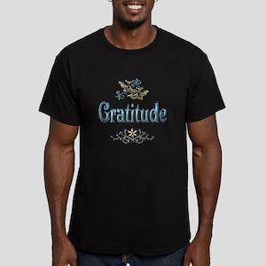 Gratitude Men's Fitted T-Shirt (dark)