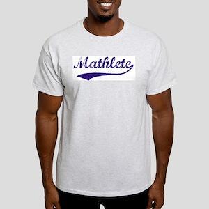 Vintage Mathlete 6  Ash Grey T-Shirt