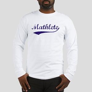 Vintage Mathlete 6  Long Sleeve T-Shirt
