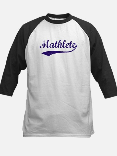 Vintage Mathlete 6  Kids Baseball Jersey