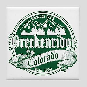 Breckenridge Old Green Tile Coaster