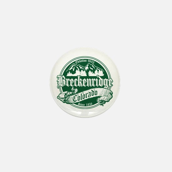 Breckenridge Old Green Mini Button