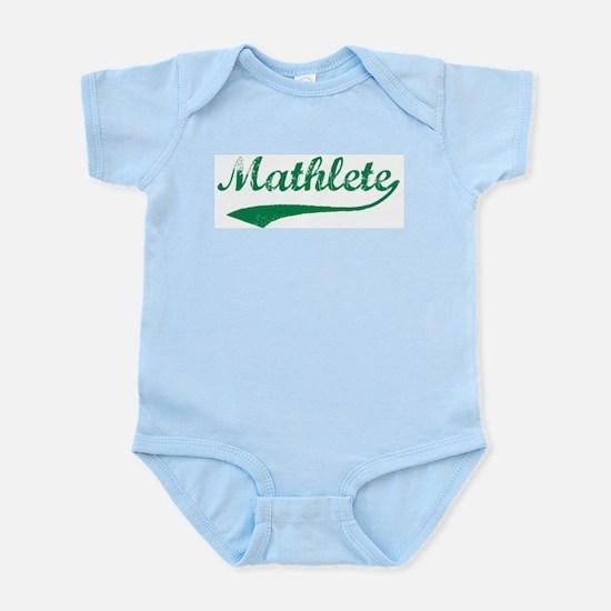 Vintage Mathlete 5  Infant Creeper