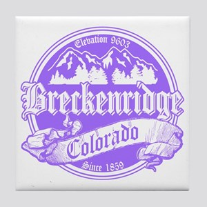 Breckenridge Old Violet Tile Coaster