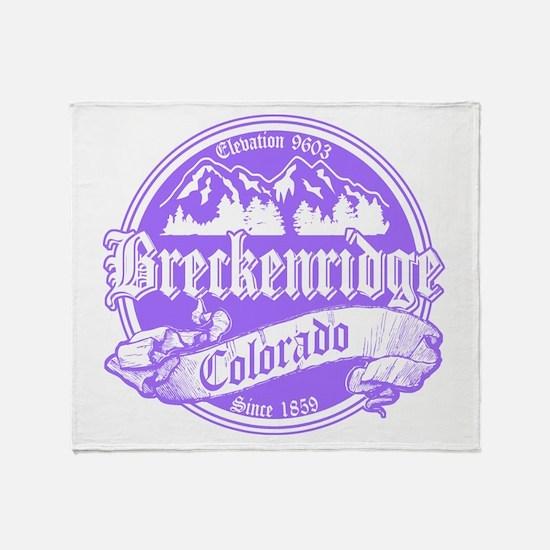 Breckenridge Old Violet Throw Blanket