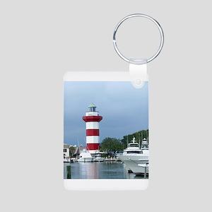 Hilton Head Lighthouse Aluminum Photo Keychain