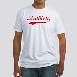 Vintage Mathlete 2  Fitted T-Shirt