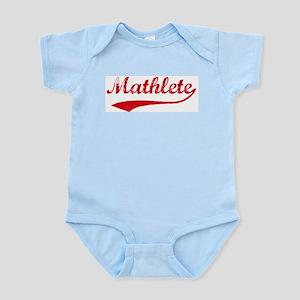 Vintage Mathlete 2  Infant Creeper