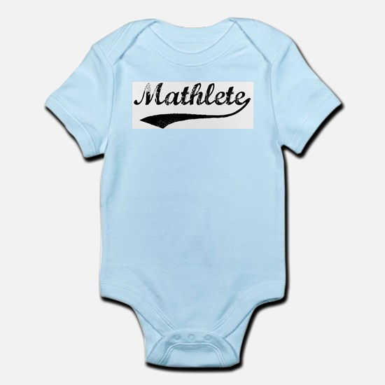 Vintage Mathlete 1  Infant Creeper