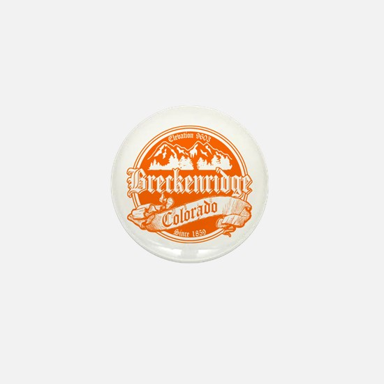 Breckenridge Old Orange Mini Button