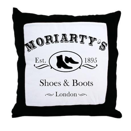 Moriarty's Shoe Shop Throw Pillow