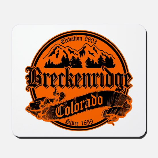 Breckenridge Old Black & Orange Mousepad