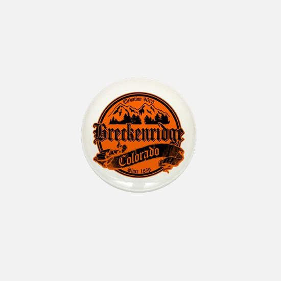 Breckenridge Old Black & Orange Mini Button