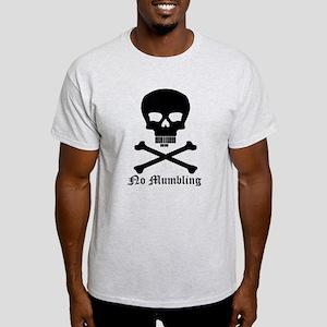 """No Mumbling"" Steno Skull Black, Front Only Light"