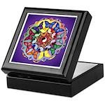 Purple Butterfly mandala Keepsake Box