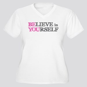 BElieve in YOUrself Women's Plus Size V-Neck T-Shi