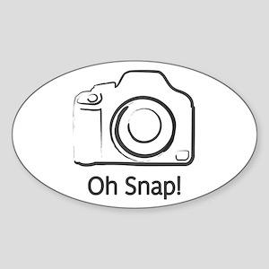 Oh Snap! Sticker (Oval)