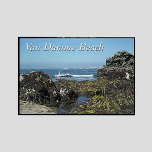 Van Damme Beach rectangle magnet