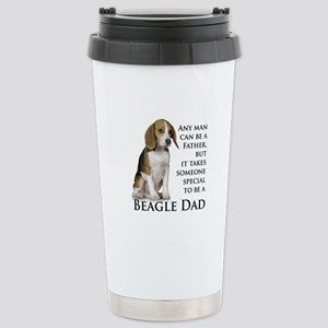 Beagle Dad Stainless Steel Travel Mug