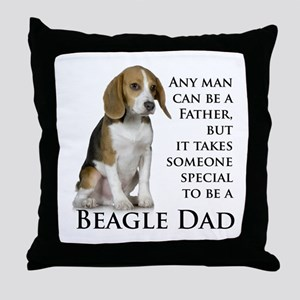 Beagle Dad Throw Pillow