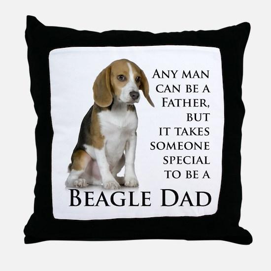 Beagle Dad Throw Pillow