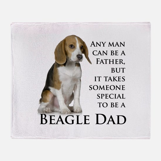 Beagle Dad Throw Blanket