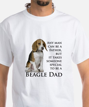 Beagle Dad White T-Shirt