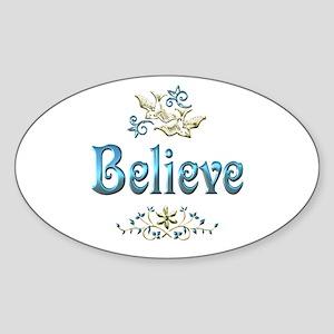 Believe Sticker (Oval)