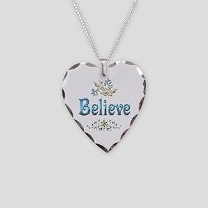 Believe Necklace Heart Charm