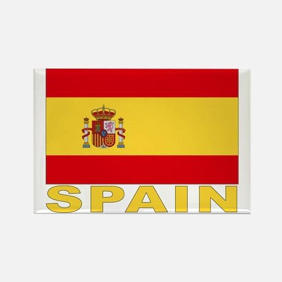 Spain Flag Rectangle Magnet