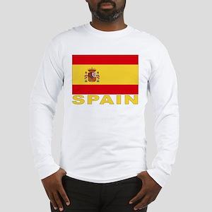 Spain Flag Long Sleeve T-Shirt