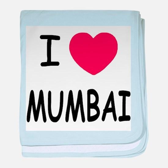 I heart mumbai baby blanket