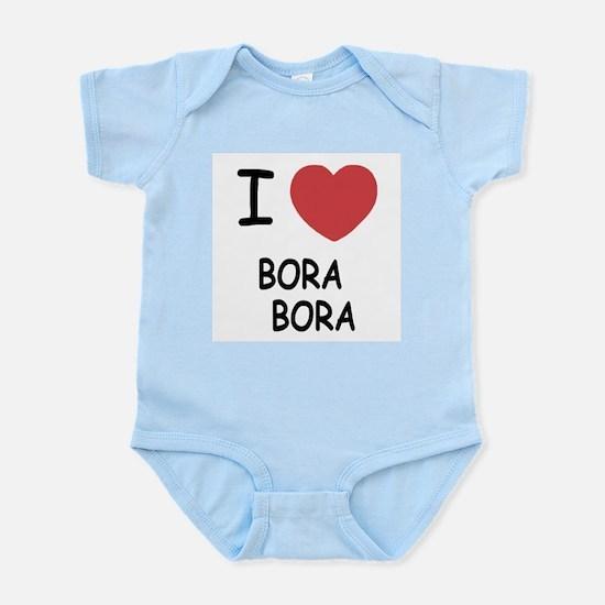 I heart bora bora Infant Bodysuit