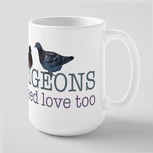 Pigeons need love Large Mug