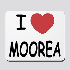 I heart moorea Mousepad