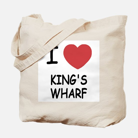 I heart king's wharf Tote Bag