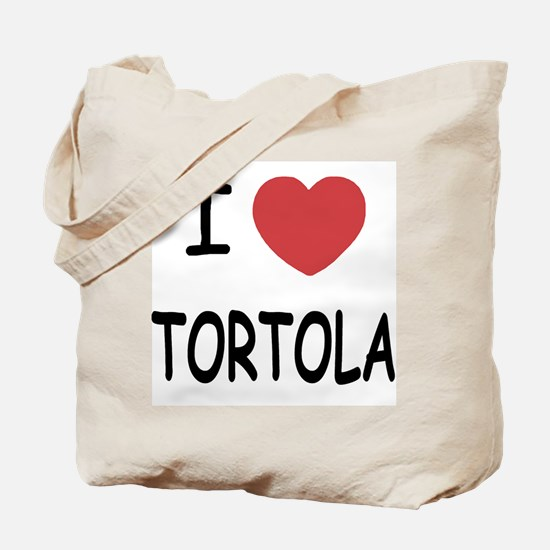 I heart tortola Tote Bag