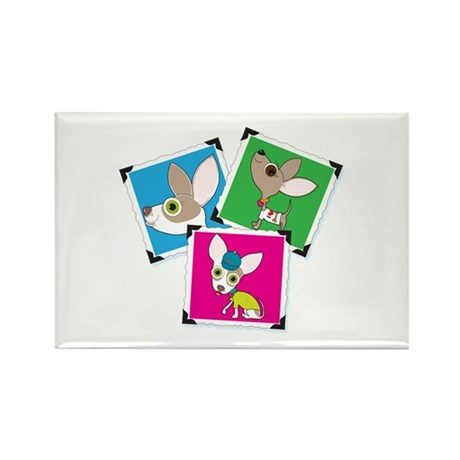 Chihuahua Photographs Rectangle Magnet (100 pack)