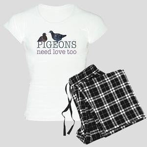 Pigeons need love Women's Light Pajamas