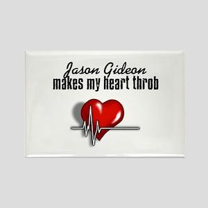 Jason Gideon makes my heart throb Rectangle Magnet