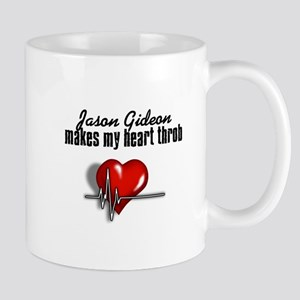 Jason Gideon makes my heart throb Mug
