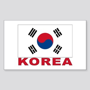 Korea Flag Rectangle Sticker