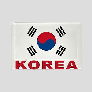 Korea Flag Rectangle Magnet