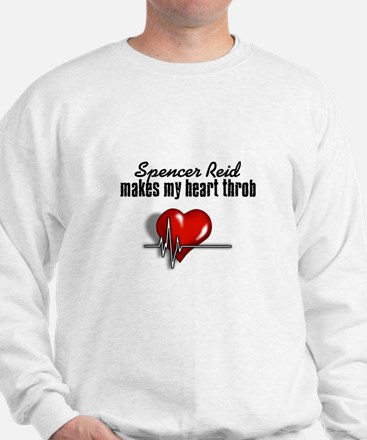 Spencer Reid makes my heart throb Sweatshirt