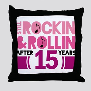 15th Anniversary Funny Gift Throw Pillow
