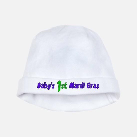 1st Mardi Gras baby hat