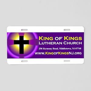 King of Kings Lutheran Church Aluminum License Pla