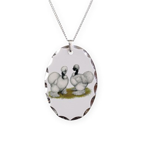 Showgirl Bantams Necklace Oval Charm